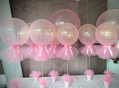 Easy to make DIY baby shower balloon centerpieces. Make it and your Baby Shower guest will sure be impressed by your creativity and eagerness to create great decoration for your child Baby Shower ❤ Baby Party, Baby Shower Parties, Baby Shower Themes, Baby Shower Gifts, Babyshower Party, Tutu Party, Babby Shower Ideas, Baby Shower Pink, Girl Baby Showers