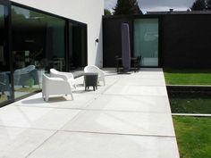 betonnen vloerplaten terras
