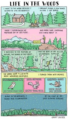 We've come a long way from Walden Pond: Life in the woods [comic]