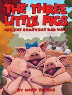 July 15, 2015. In this original version of the traditional tale, the three little pigs are in their usual trouble with the somewhat bad wolf--who is really just very hungry and frustrated that the pizza parlor will not serve him.