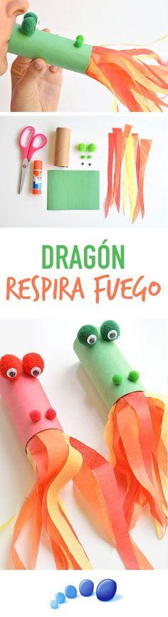 DIY CRAFT: Paper Roll Dragon | Fire Breathing Dragon