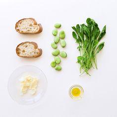 バルミューダ | BALMUDA The Toaster(バルミューダ ザ・トースター) | レシピ | ルッコラと空豆のオープンサンド