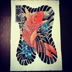 Bodysuit designs: Photo Japanese Koi Fish Tattoo, Japanese Tattoo Designs, Japanese Sleeve Tattoos, Black Dragon Tattoo, Dragon Tattoo Arm, Traditional Tattoo Art, Traditional Japanese Tattoos, Carp Tattoo, Tattoo Ink