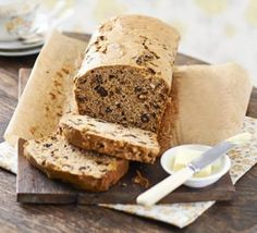 Good Food reader, Win Morgan shares her recipe for this traditional Welsh tea bread loaf with mixed spice - serve sliced and spread with butter: Bara brith Bbc Good Food Recipes, Baking Recipes, Cake Recipes, Sweet Recipes, Loaf Recipes, Vegetarian Recipes, Bara Brith, Welsh Recipes, British Recipes