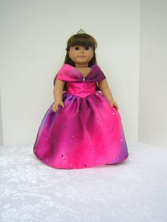 Princess Dress with Purple Shoes for American Girl by ItsSewSusan, $44.00