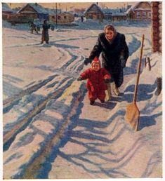 Николаев Б.А. Впервые на снегу (463x508, 61Kb)