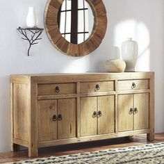 Large Reclaimed Pine Buffet - NEW | Same with this one, change hardware to gold or brushed nickel or paint (from outlet) Just another option