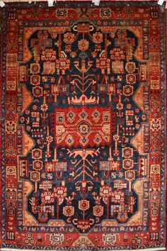 Persian Hand-Knotted Nahavand Rug in Wool - Ref: 1505 - 1.71m x 1.17m