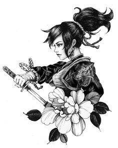 Geisha tattoo: Beautiful inspirations for your tattoo - Although the geisha tattoo is easy to recognize, not everyone knows the meanings behind it. Geisha Tattoos, Geisha Tattoo Design, Die Geisha, Geisha Art, Japanese Geisha Tattoo, Japanese Tattoo Designs, Japan Tattoo, Tattoo Drawings, Body Art Tattoos