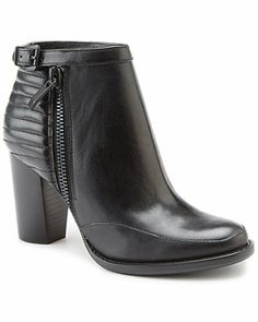 """Some of you have to get in on this: French Connection """"Odea"""" Leather Ankle Boot"""