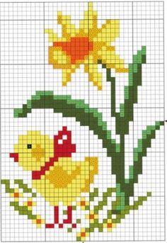 Modern Cross Stitch Patterns, Counted Cross Stitch Patterns, Cross Stitch Charts, Cross Stitch Designs, Cross Stitch Embroidery, Cross Stitch For Kids, Cross Stitch Love, Cross Stitch Flowers, Easter Cross