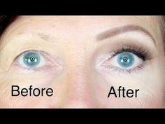Hooded Eyes Makeup For Skin Stephanie Lange Makeup Tricks, Eye Makeup Tips, Makeup Ideas, Makeup Eyeshadow, Eyeshadow Ideas, White Eyeshadow, Black Eyeliner, Makeup Designs, Makeup Tutorials