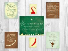 Peter Pan Nursery Series, Peter Pan Quote, Neverland Decor Poster, Peter Pan Art Prints on Etsy, $98.00