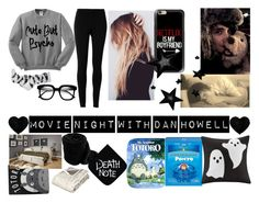 """""""movie night with dan"""" by kacileim on Polyvore featuring Max Studio, Topshop, ZeroUV, Casetify, Ghibli, OKA and Madison Park"""