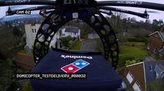 Helicopter Drone-Guided Pizza Delivery Is The Next Big Thing!