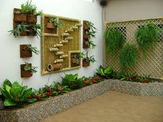 Resultado de imagem para jardim em casa simples e bonitos