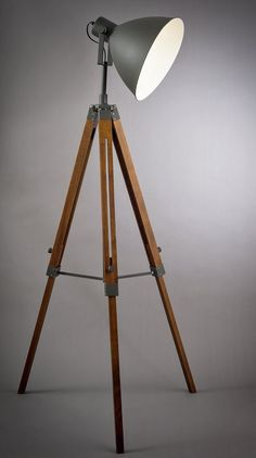 Buy Argos Home Industrial Tripod Floor Lamp at Argos. Thousands of products for same day delivery or fast store collection. Side Table Lamps, Table Lamps For Bedroom, Room Lamp, Corner Lamp, Industrial Furniture, Industrial Design, Tripod Lamp, Lamp Shades, Lamp Design