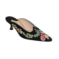 1stdibs - Manolo Blahnik Black Velvet Shoes with Embroidered Flowers explore items from 1,700  global dealers at 1stdibs.com
