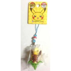 Pokemon Center Hokkaido 2012 Eevee With Corn Mobile Phone Strap