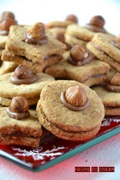 noisettines, à adapter vegan Desserts With Biscuits, No Cook Desserts, Mini Desserts, French Desserts, Plated Desserts, Easy Cookie Recipes, Sweet Recipes, Cake Recipes, Dessert Recipes