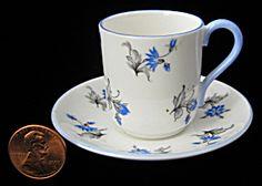 Shelley China Miniature Blue Charm Canterbury