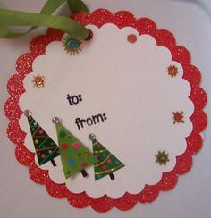 Scrapbook Christmas Gift Tags