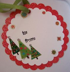 Scrapbook Christmas Gift Tags