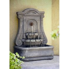 Shop a great selection of Cannes Concrete Wall Fountain Florence&NewItalianArtCompany. Find new offer and Similar products for Cannes Concrete Wall Fountain Florence&NewItalianArtCompany. Fountains For Sale, Outdoor Wall Fountains, Outdoor Walls, Outdoor Decor, Outdoor Patios, Outdoor Living, Concrete Planters, Concrete Wall, Outdoor Electrical Outlet