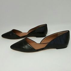Vince Camuto Geneva Pointy Toe Flat New Without Box Black Leather Upper Vince Camuto Shoes Flats & Loafers