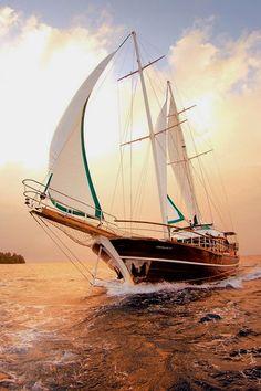 It's not a shrimp boat - but it'll do in a pinch. Great looking sail!