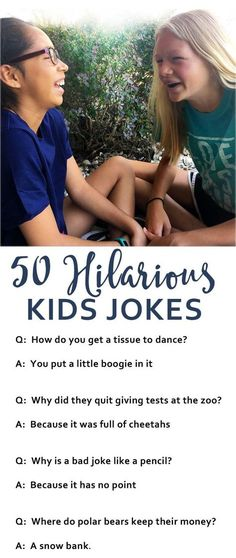 Hilarious Jokes For Kids Kids jokes are sure to bring a smile and some laughter…. Hilarious Jokes For Kids Kids jokes are sure to bring a smile and some laughter. Here are over 50 hilarious jokes to keep kids laughing. Gentle Parenting, Kids And Parenting, Parenting Humor, Parenting Hacks, Parenting Goals, My Bebe, Funny Kids, Jokes Kids, Kids Humor