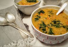 Smoked Paprika & Lentil Soup with Kale   I am in LOVE with this soup!  The smoked paprika and rosemary are amazing when dry roasted together  It gives the soup an amazing deep smoky flavour   Using red lentils makes this dish not only delicious but also incredibly quick and easy to make! This whole soup comes together in 30mins!