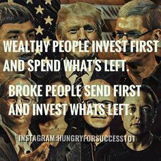 THE DIFFERENCE BETWEEN WEALTHY PEOPLE AND BROKE PEOPLE.WHICH ONE YOU WANT TO BE? #motivational #inspirational #hungryforsuccess Checkout More: http://ift.tt/2fNnCJo