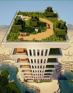 Modern Apartment 2 minecraft building ideas skyscraper tower live beach front