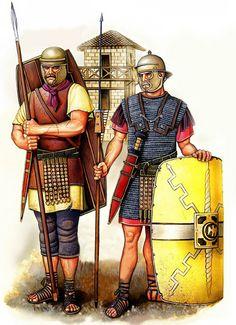 """Legionarios romanos, siglo I aC"""