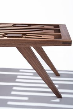 A Handcrafted Wood Bench with No Hardware in main home furnishings  Category