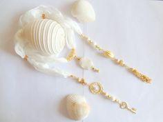Wedding Jewelry Scarf NecklaceRaw silk natural by sevinchjewelry, $85.00 #pearlnecklace #weddingjewelry
