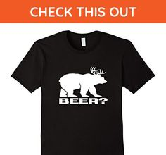 Mens beer bear shirt 2XL Black - Food and drink shirts (*Amazon Partner-Link)