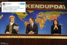 Taran Killam shouts out writer Alex Baze and the entire Weekend Update team for creating Jebidiah Atkinson | Saturday Night Live | SNL