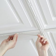 Decorative strips are designed to cover drop ceiling grid in suspended installations, and the joints between ceiling tiles in glue/nail up installations. Self-adhesive and easy to trim with household scissors, these strips make the grid/joints disappear,