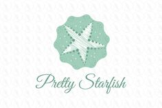 Pretty Starfish - $325 http://www.stronglogos.com/product/pretty-starfish #logo #design #sale #hotel #beach #gift #shop #restaurant #travel