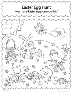 Free Printable Easter Coloring Pages are fun for all ages! Easter egg coloring pages, Easter bunny coloring pages, & more adorable Easter pictures to color! Free Easter Coloring Pages, Easter Bunny Colouring, Easter Egg Coloring Pages, Coloring Book, Activity Sheets For Kids, Easter Activities For Kids, Easter Games, Easter Worksheets, Printable Worksheets
