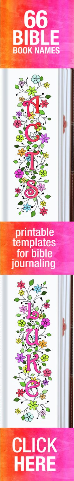 Names of 66 bible books, print & trace