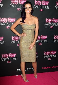 Katy Perry. Love her heels and dress!