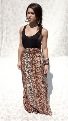 I really would love a leopard print maxi skirt