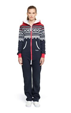 a2fa2a6e8629 Onepiece Marius Onesie Navy Red White Printed Jumpsuit