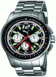 6b9ad65d4f6 RACE LUMINOUS CHRONO METAL SIL Serial 123668 Gents Relógio Puma