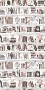 Books by Kate Spade - Blush - Wallpaper - A faux library wall, book shelf wallpaper design with a hand-painted effect by Kate Spade.A faux library wall, book shelf wallpaper design with a hand-painted effect by Kate Spade. Blush Wallpaper, Book Wallpaper, Free Phone Wallpaper, Wallpaper Direct, Trendy Wallpaper, Tumblr Wallpaper, Pretty Wallpapers, Screen Wallpaper, Pattern Wallpaper