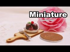 미니어쳐 초코 케이크 만들기 Miniature * Chocolate Cake - YouTube