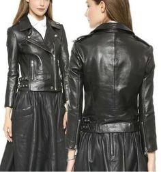 Black Faux-Leather Biker Jacket
